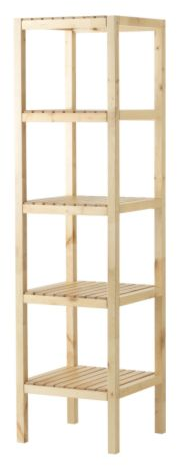 MOLGER Shelving unit - birch - IKEA
