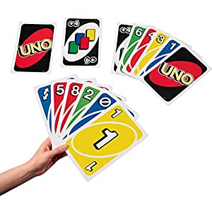 Best Epic Trends 51IWrHSAeCL._SS300_ Mattel Games Giant UNO Family Card Game with 108 Oversized Cards and Instructions, Great Gift for Kids Ages 7 Years and…
