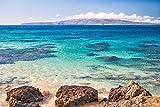 Ocean Reef Snorkel Picture, Tropical Maui Hawaiian Turquoise Water Print, Beach Decor Wall Art