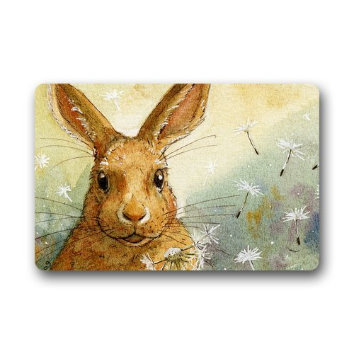 - Doormat Machine-Washable Door Mat Rabbit Indoor/Outdoor Decor Rug 30(L) x 18(W) Inch