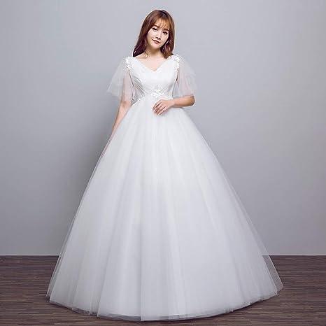 90282653371df YT-RE Le Donne Incinte Abito da Sposa Sposa con Scollo a V a Vita ...