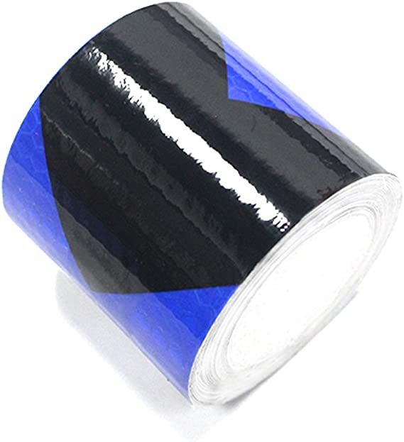 2x196 Muchkey Black-White Honeycomb Arrow Sticker reflective tape Reflective Conspicuity Safety Warning lighting Tape Strip 5cmx5m
