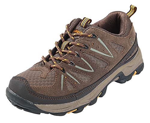 Northside Cheyenne JR Hiking Boot ,Taupe/Mango,6 M US Big Kid