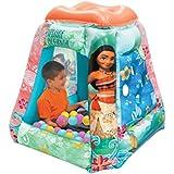 Moana Ball Pit, 1 Inflatable & 20 Sof-Flex Balls, Aqua/Pink, 37
