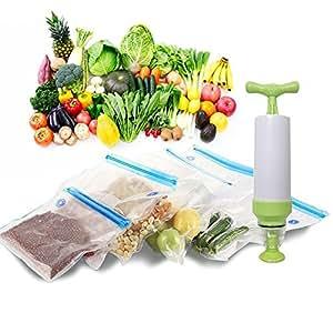 OFKPO Sellador de Alimentos al Vacío, Selladora al Vacío para Conservación de Alimentos Máquina de Vacío
