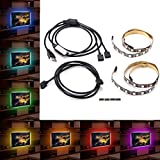 2PCS 50cm 5050 RGB USB LED Strip Light Bar TV Background Lighting Non-Waterproof DC5V