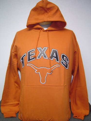 New! Extra Large - XL - University of Texas UT Longhorns Orange Pullover Hoodie / Jacket