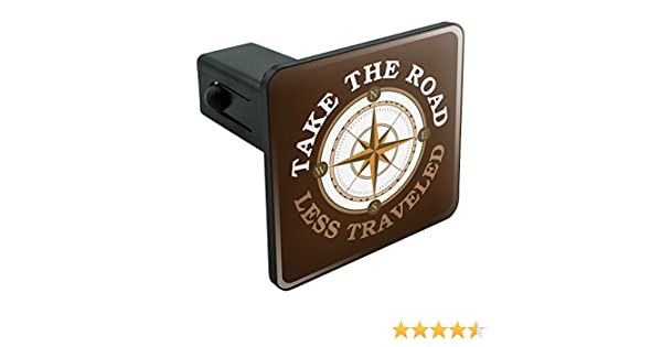 Amazon.com: Graphics and More Take The Road Less Traveled Compass Tow Trailer Hitch Cover Plug Insert 1 1/4 inch (1.25