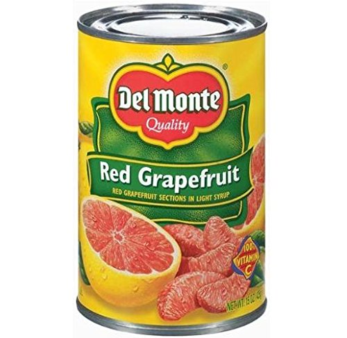 Del Monte Red Grapefruit Sections in Light Syrup (Pack of 3) 15 oz Cans