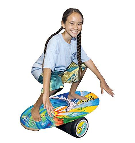 "INDO BOARD Original Balance Board with 6.5"" Roller and 30"" X 18"" Non-Slip Deck – Bamboo Beach Design by INDO BOARD (Image #9)"