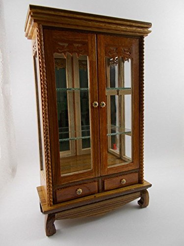 Small Vintage Teak Wood Cabinet Craft Handmade Carved Cupboard Furniture by Mystyleshop (Image #2)