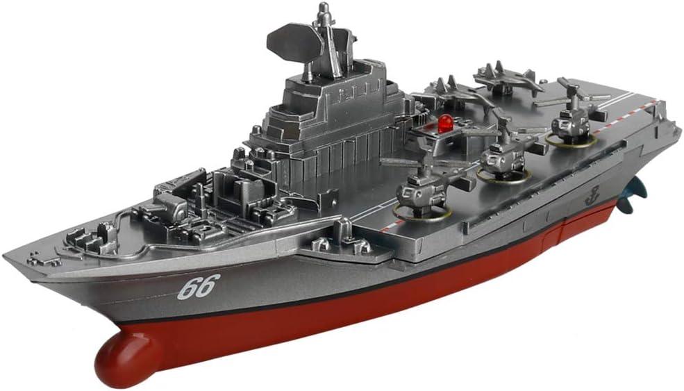 Bateau Ailyoo Cadeau denfant de Porte-Avions /électrique de Jouet /électrique de Navire de Guerre /électrique /à t/él/écommande de 2,4 G//Mini Navire de Guerre Bateau Porte-Avions cuirass/é
