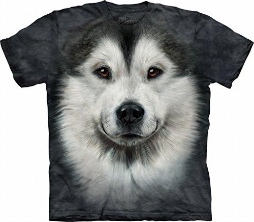 Alaskan Malamute Face Dog The Mountain Adult T-Shirt L