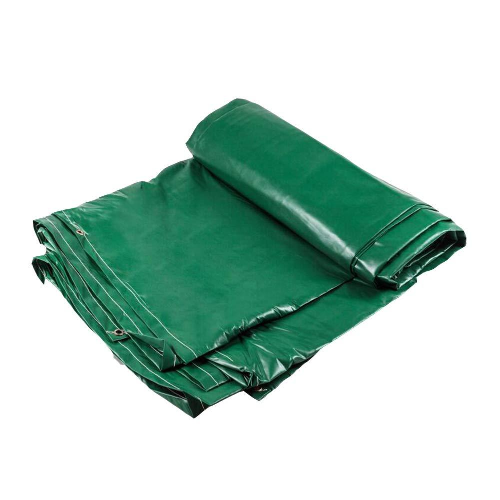 DALL ターポリン タープ 防水 ポンチョシェーディング 防雨 日焼け止め 雨の布 キャノピー布 (色 : Green, サイズ さいず : 4*6m) 4*6m Green B07KRV7ZTJ