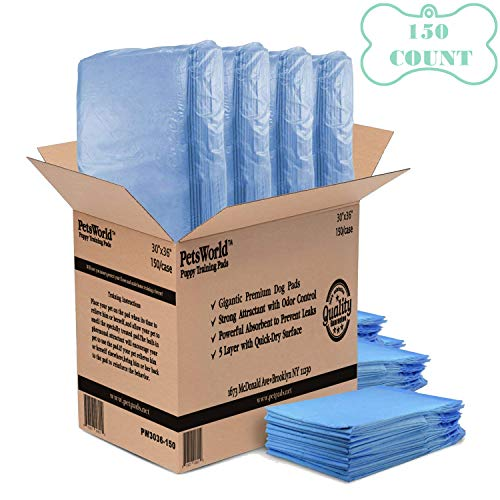 - PETSWORLD 30x36 Heavy Absorbency Puppy Training Pads, 150 Count Fast Delivery