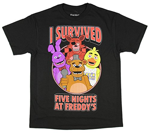 Five Nights At Freddy's Survivor Boys Youth T-shirt Licensed (Large) (Five Nights At Freddys Cool Math Games)