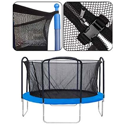 Black 12-foot Trampoline Enclosure Safety Mesh Net 71-inch Ht. Terylene Material Replacement Screen Netting Zipper Strap Buckle Closure for Home Jump Bounce Play LeeMas Inc