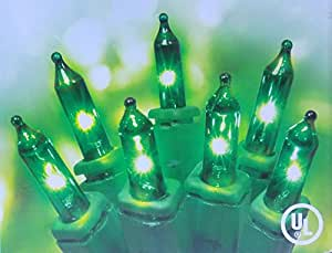 Set of 100 Green Mini Indoor/Outdoor St Patricks Day Lights