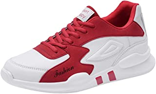 Chaussures ADESHOP Mode Chaussures De Running Sport LéGèRes Et DéContractéEs pour Hommes Surface en Cuir LaçAge Poids LéGer Chaussures De Course Respirant Confortables AntidéRapant Baskets
