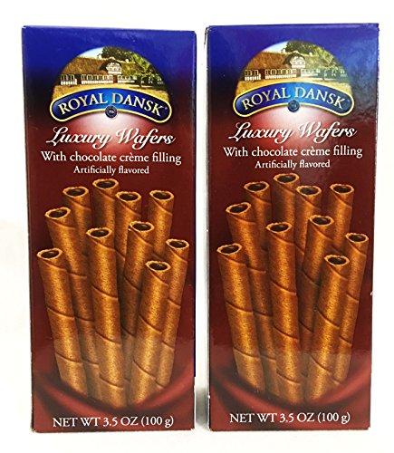 Royal Dansk Luxury Chocolate Wafer Cookies (2 Pack)