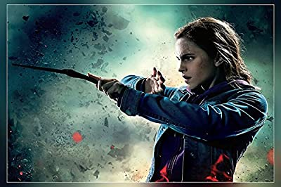 Hermione Granger (Holding a Magic Stick) Poster Print by A-ONE POSTERS12 x 18 inch (Rolled)