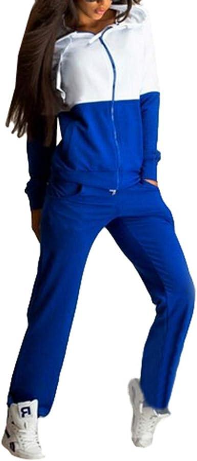 Mujer Chandal Ropa Deportiva Suave y cómodo Pantalones Jersey ...