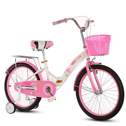 YON JIU Plier la Bicyclette, Garçons Et Filles Vélo Safe Childhood Personal Vélo 5-12 Ans Bébé Auxiliaire Roue Auxiliaire 115-128 CM (Color : A, Size : 115CM)