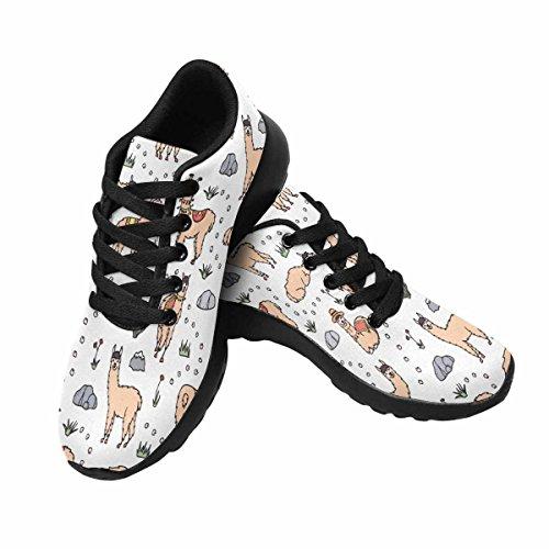 Interestprint Femmes Doux Sport Route Courir Running Chaussures Mignon Lama Avec Des Décorations Multi 1
