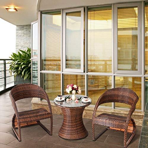 Rattan 2 Balcones sillas de jardín 1 Mesa de luz Muebles de ...