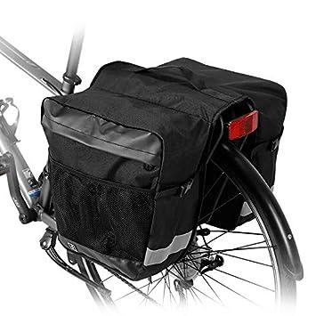 28L Bicycle Double Pannier Bag Side Rear Rack Seat Mountain Road Bike Bags