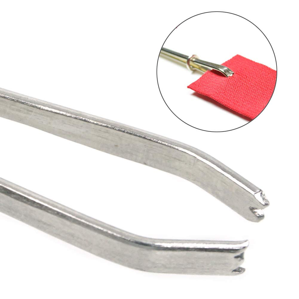 Bodkin Needle Elastic Threader Self-Locking Tweezers Clip 78mm for Waist Band Craft Easy Pull Sewing Tool for Smooth Threading Tape Ribbon Elastic Through a Loop or Hem 2 PCS