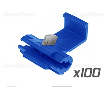 100x blue scotch lock wire connectors quick splice terminals crimp rh amazon co uk automotive wiring connectors 3 wire automotive wiring connectors plugs