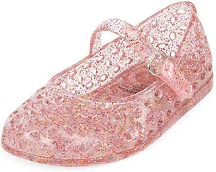 The Children's Place Kids' TG MJ Jelly Flat Sandal
