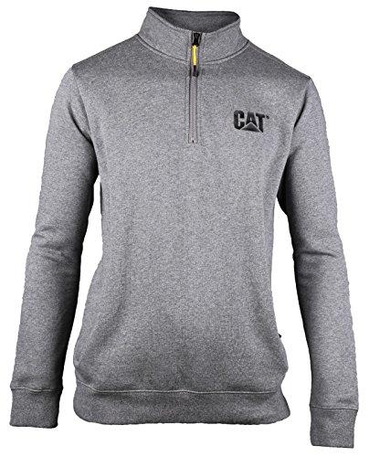 Caterpillar Men's Canyon Quarter Zip Sweatshirt, Dark Heather Grey, Large