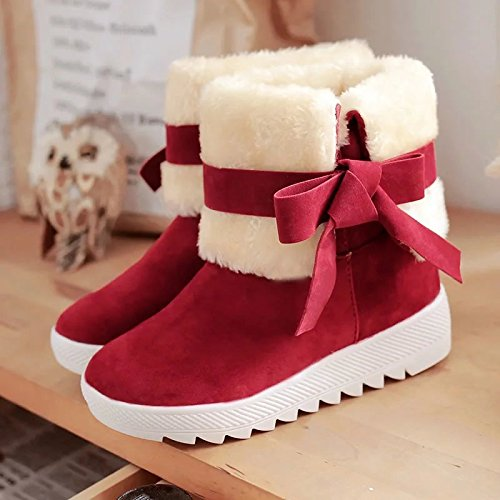 Warm Snow Boots In Tube Flat Casual Women Shoes Female Boots RUGAI-UE