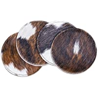 RODEO Cowhide Coaster Set 4 pcs