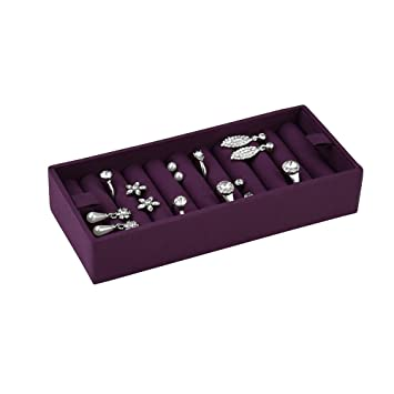 228463ff0 STACKERS ACCESSORY Purple Ring Holder for Cream Stacker Jewellery Boxes:  Amazon.co.uk: Kitchen & Home