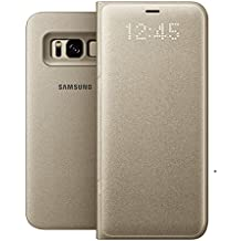 Genuine Samsung LED View Cover Flip Wallet Case for Samsung Galaxy S8 - Gold (EF-NG950PFEGWW)
