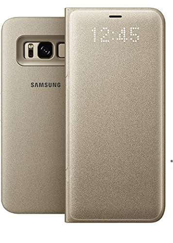premium selection 9e0bc 7d54f Genuine Samsung LED View Cover Flip Wallet Case for Samsung Galaxy S8 -  Gold (EF-NG950PFEGWW)