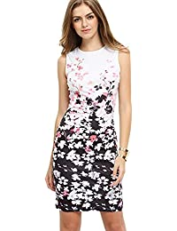 Floerns Women's Floral Print Sleeveless Split Cocktail...