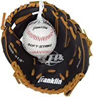 Franklin Sports Black & Tan Baseball Glove with