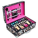 Vokai Makeup Kit Gift Set - Leopard Print Carrying Case 32 Eye Shadows 6 Lip Glosses 4 Lipsticks 2 Blushes 2 Foundations 1 Eye Liner Pencil 1 Lip Liner Pencil 1 Big Blush Brush 2 Mini Applicators