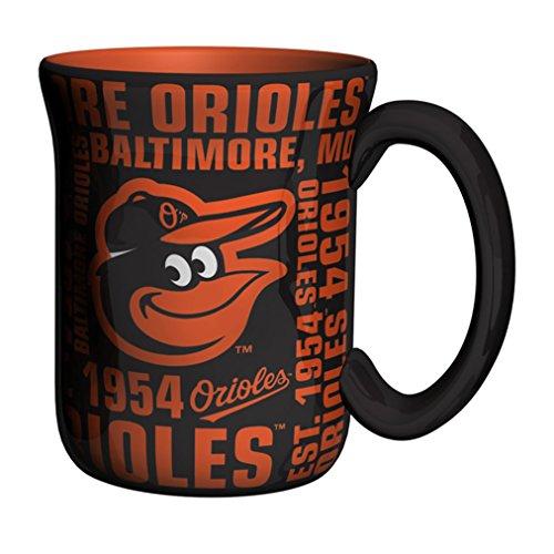 Boelter Brands MLB Baltimore Orioles Sculpted Spirit Mug, 17-Ounce