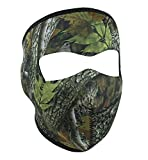 Oak Leaf Leaves Mossy Tree Camo Camoflauge Reversible to Black Neoprene Full Face Mask