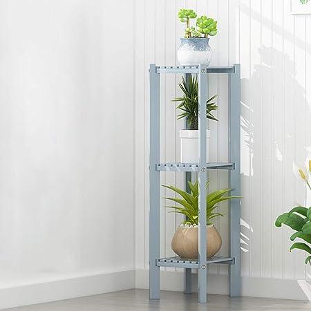 Escalera Para Flores, 3 Capas De Bambú Planta Soporte Bonsai Estante De ExhibicióN Para Interior Al Aire Libre JardíN DecoracióN De Escritorio Plantas Suculentas 28 * 28 * 98 Cm-gray: Amazon.es: Hogar