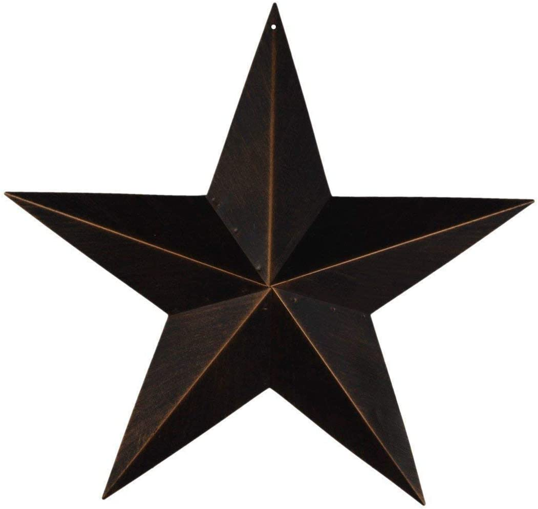 EBEI 17.5 Rustic Metal Barn Star Country Antique Vintage Gifts Metal Star Home Wall Decor
