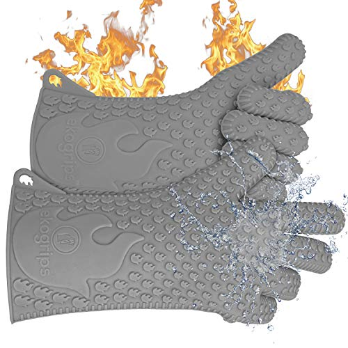 Jolly Green Products Ekogrips #1 Heat-Resistant Cooking Gloves | Leading Brand for Pitmasters | Designed in USA | 3 Sizes| 2 Colors (XXL, Charcoal)