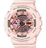 Image of Casio G-Shock Gold and Pink Dial Pink Resin Quartz Ladies Watch GMAS110MP-4A1