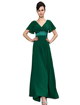 d1799011540d5 Ever-Pretty Women s Short Sleeve V-Neck Long Evening Dress 09890 at ...