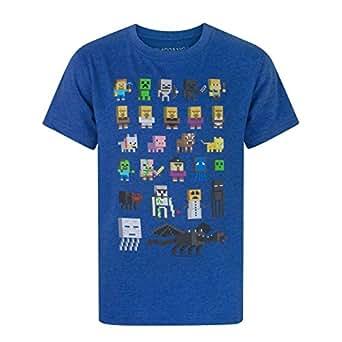 Minecraft Boys Short Sleeved T-Shirt 5-6 Years Blue